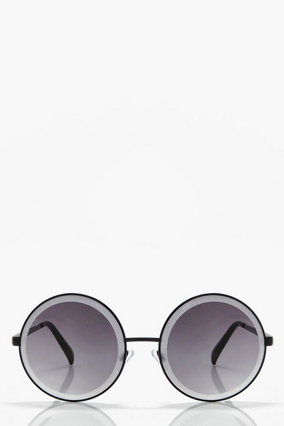 Clara Oversized Retro Round Sunglasses
