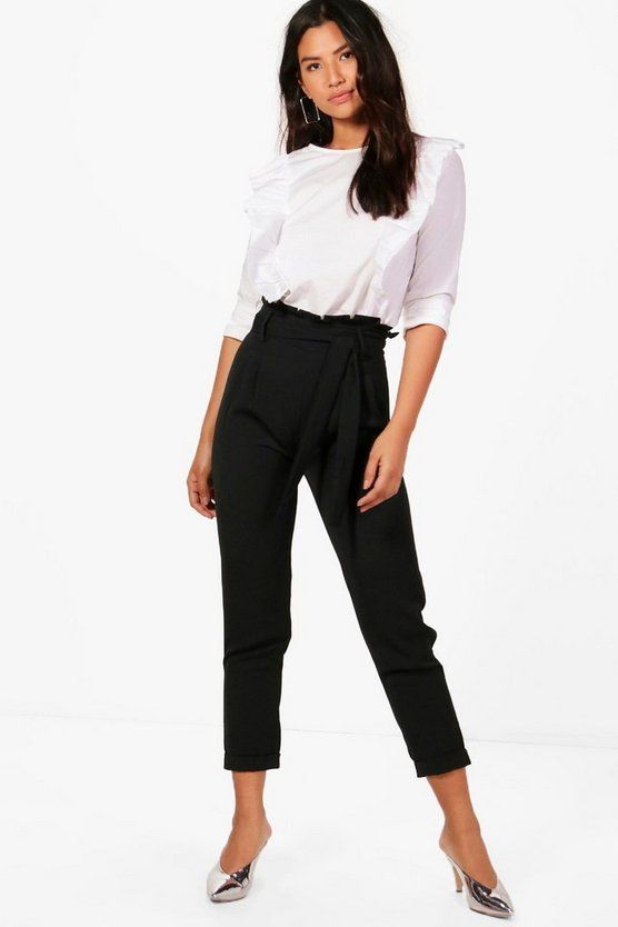 Eliza Premium Paperbag Waist Tailored Trouser