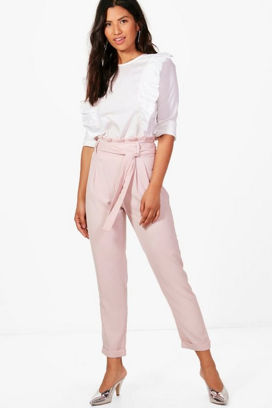 Boohoo Premium Waist Paperbag Tailored ShoptagrEliza by Trouser fvYb6y7g