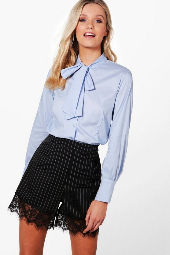 Grace Tie Neck Button Front Shirt