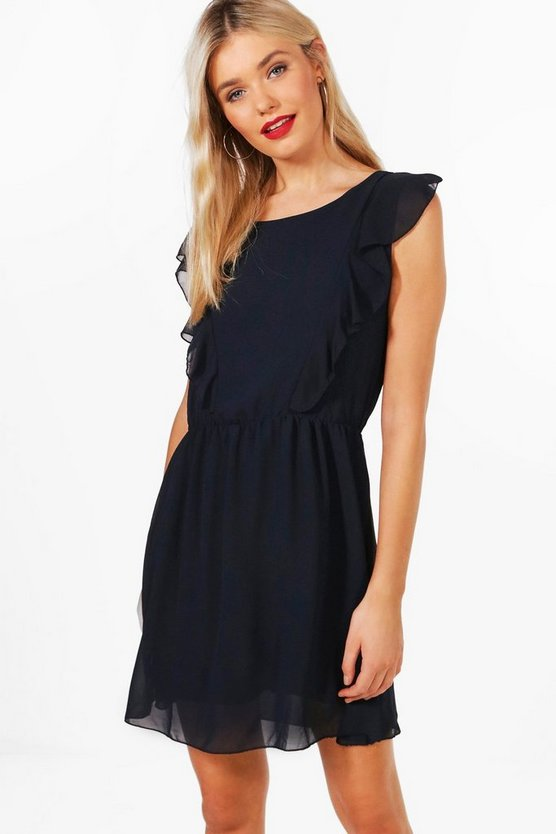 Zoe Chiffon Ruffle Dress