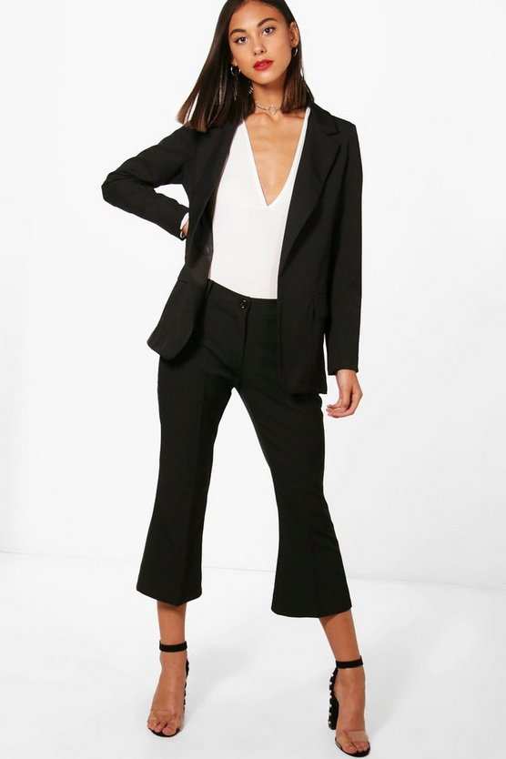 Premium Tailored Crop Kick Flare Trouser