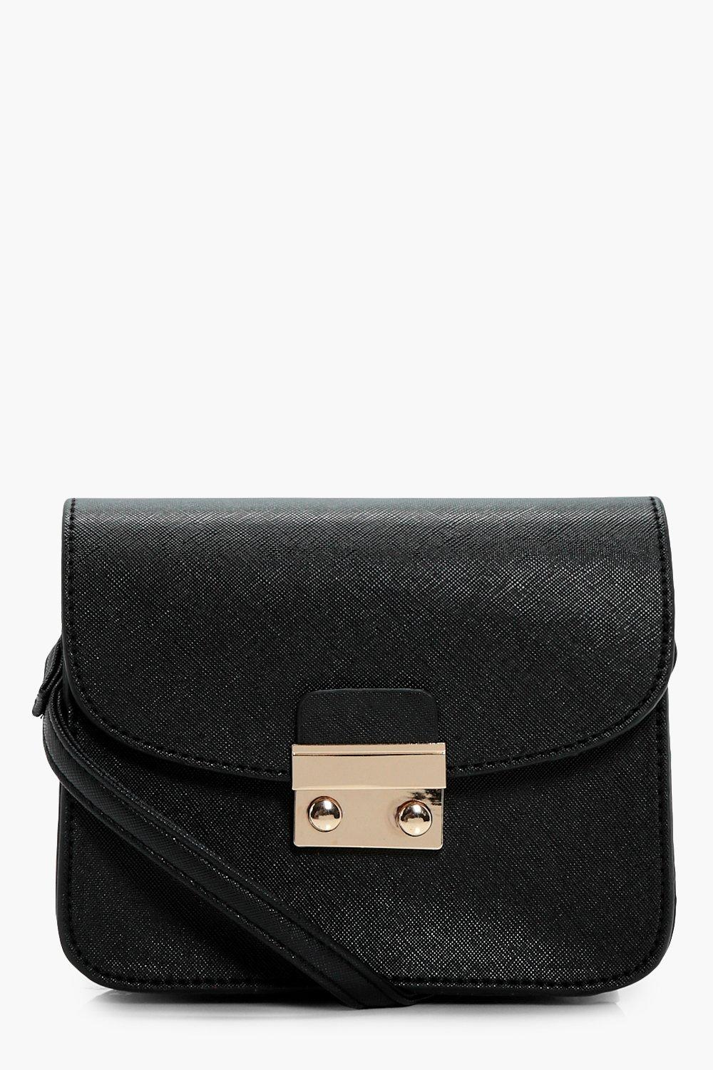Lock Front Mini Cross Body Bag - black - Eve Lock