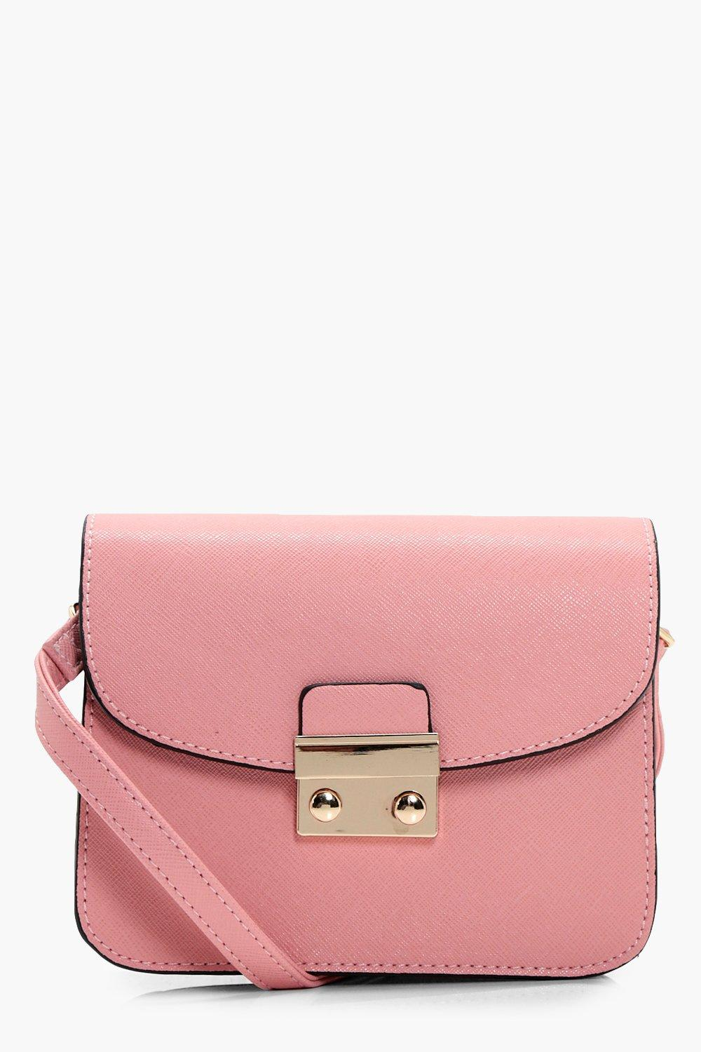 Lock Front Mini Cross Body Bag - blush - Eve Lock