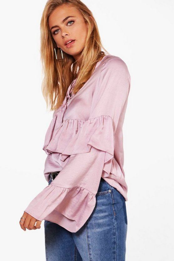 Verity Exaggerated Ruffle Detail Blouse