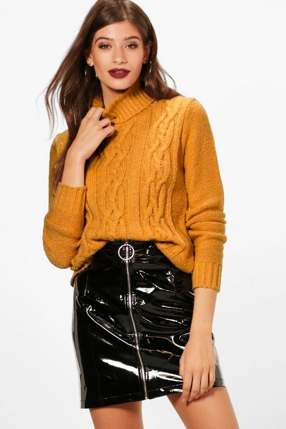Melissa Cable Roll Neck Jumper