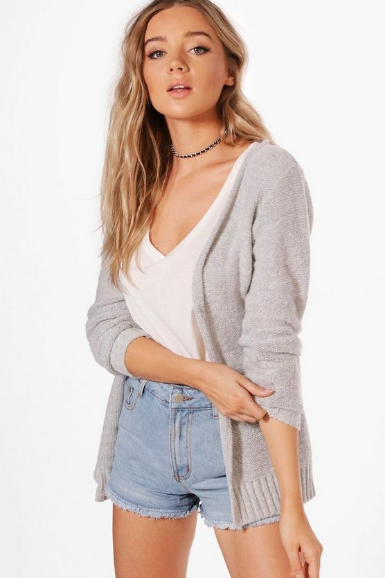 Grace Slouchy Soft Knit Boyfriend Cardigan