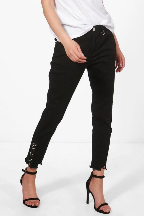 Jessie High Rise D-Ring Detail Skinny Jeans