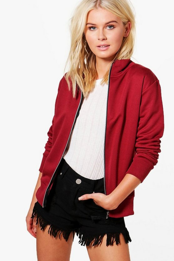 Louise Funnel Neck Bomber Jacket