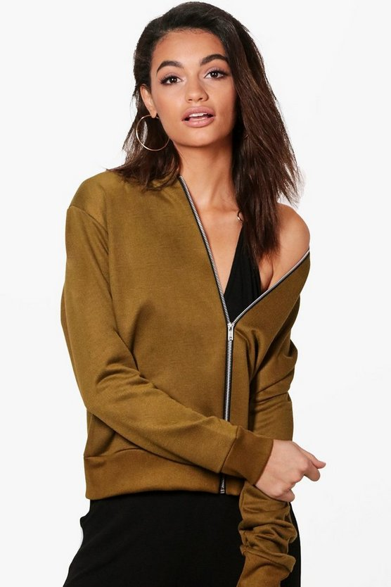 Lauren Drop Shoulder Bomber Jacket