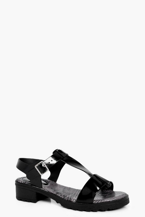 Mae T Bar Low Heel Sandal Jelly
