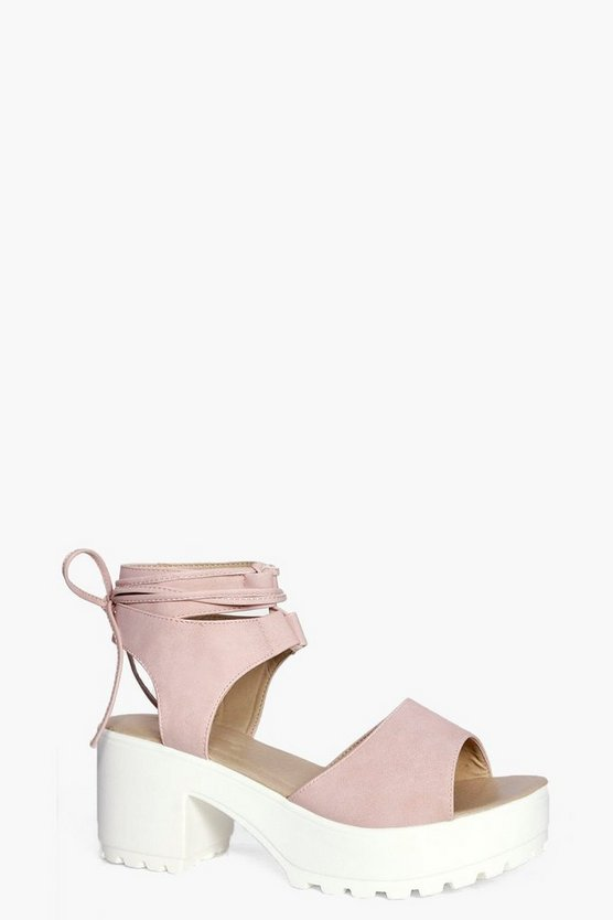 Millie Peeptoe Wrapover Cleated Sandals