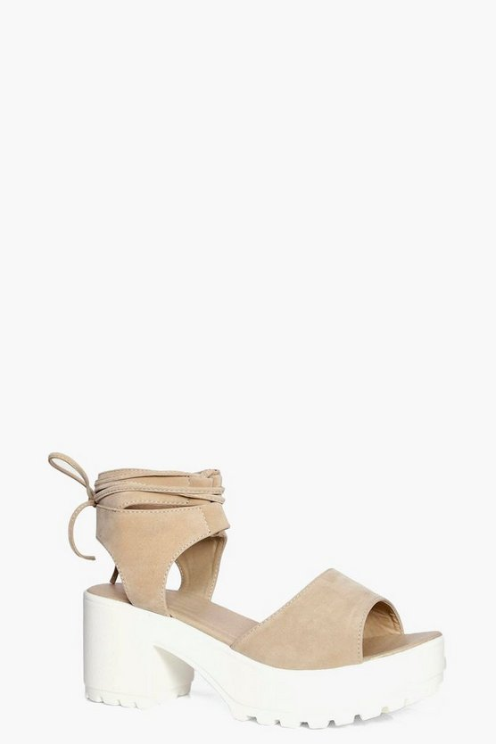 Eva Peeptoe Wrapover Cleated Sandal