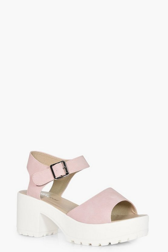 Holly Peeptoe Two Part Cleated Sandals
