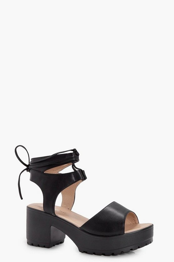 Lucy Peeptoe Wrapover Cleated Sandal