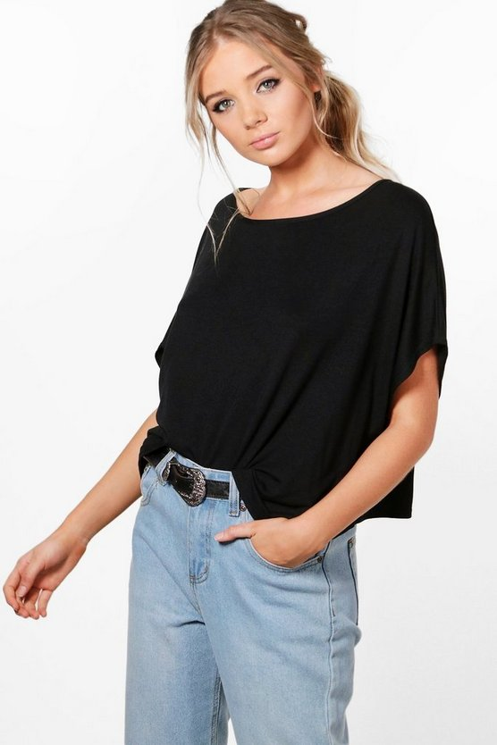 Oversized Slash Neck T-Shirt