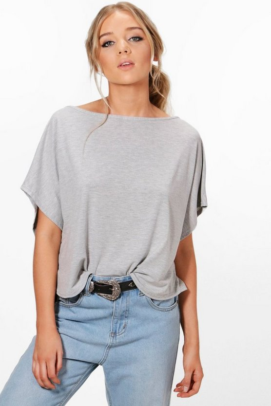Eliza Oversized Slash Neck T-Shirt