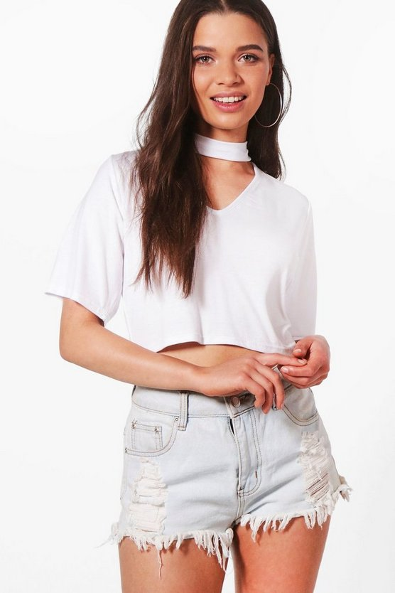 Lexi Choker Neck Crop Top
