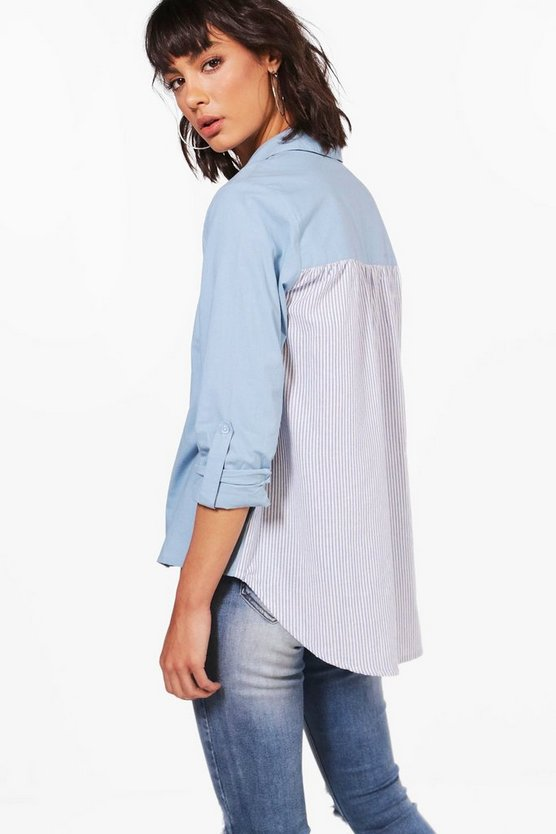Erin Stripe Dip Back Shirt