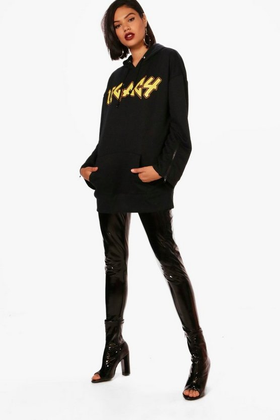 Lois Legacy Band Print Oversized Hoody