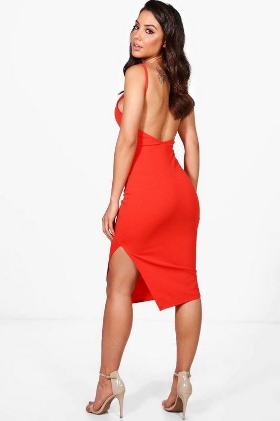 Layla Strappy Open Back Midi Dress