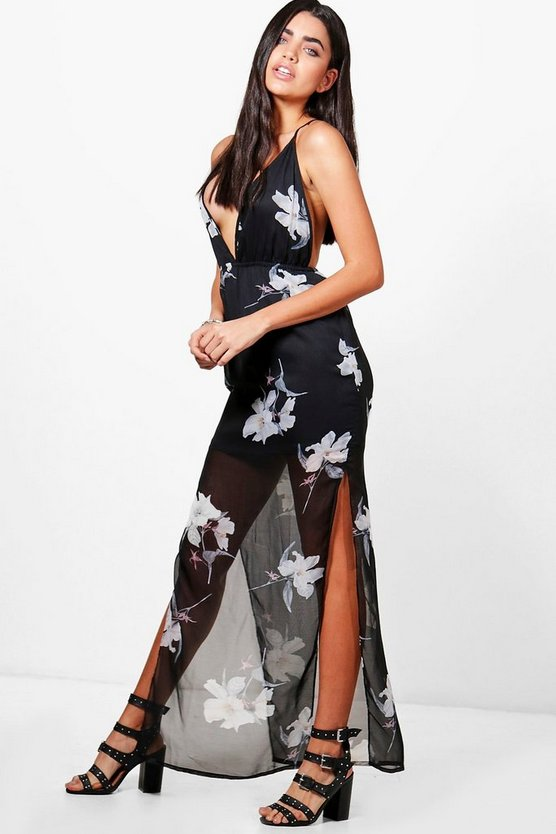 Natasha Strappy Floral Maxi Dress
