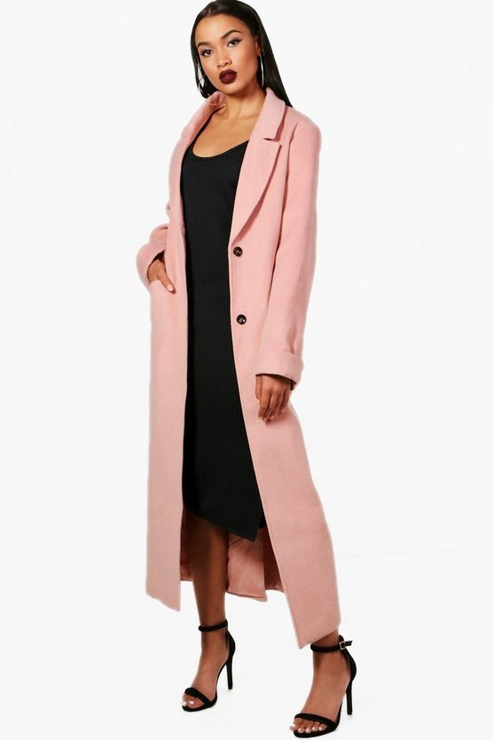 Georgia Oversized Maxi Wool Look Coat