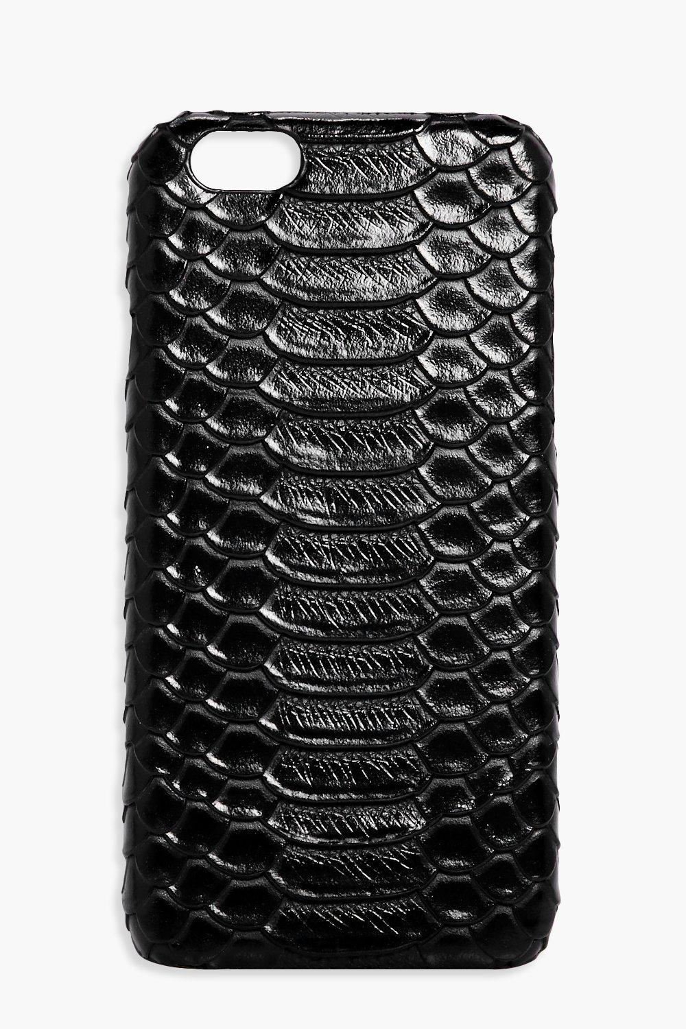 Croc Texture iPhone 6 Case - black - Mock Croc Tex