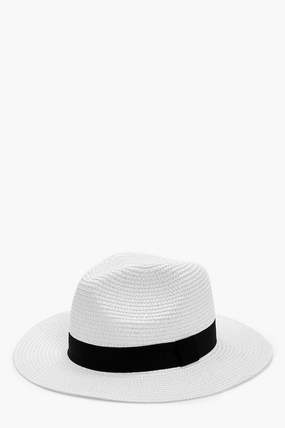Kitty Straw Short Brim Fedora Hat