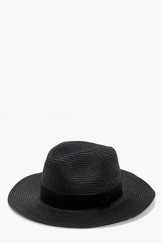 Honey Black Straw Hat