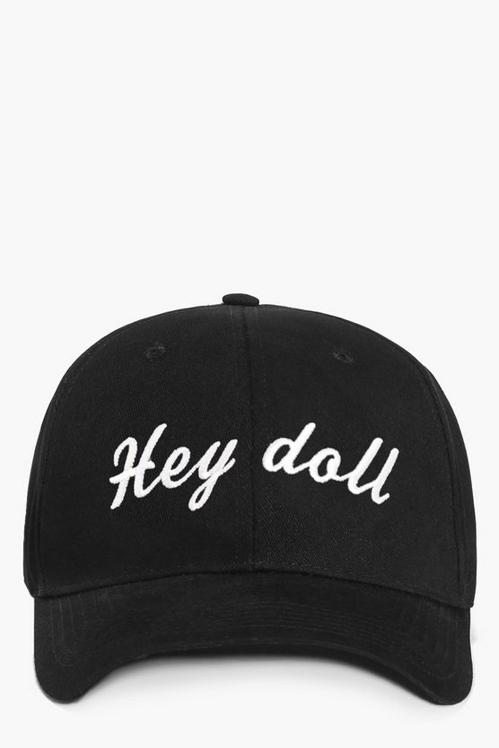 Nadia Hey Doll Slogan Baseball Cap
