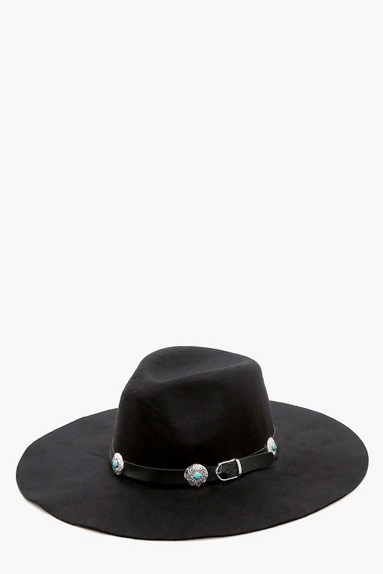 Tegan Western Belt Detail Hat