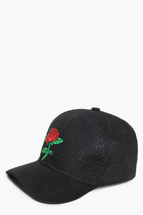 Saffron Rose Embroidered Cap
