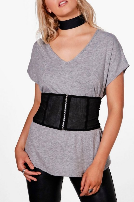 Scarlett Mesh Zip Through Waist Belt