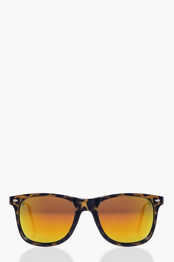 Grace Gold Mirror Tortoise Frame Sunglasses