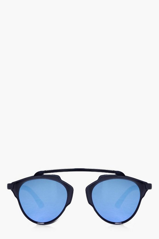 Evie Blue Lense Aviator Sunglasses