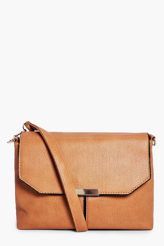 Olivia Metal Trim Cross Body Bag