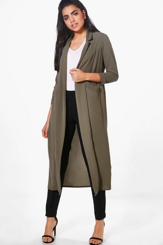 Alicia Woven Longline Pocket Duster