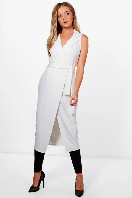 Ren Sleeveless Tie Waist Duster