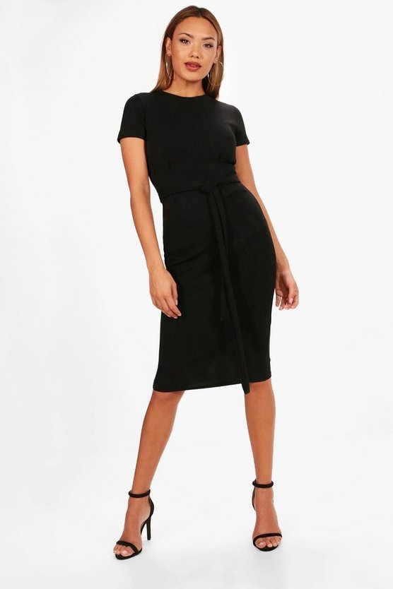 Kaley Tie Waist Fitted Dress