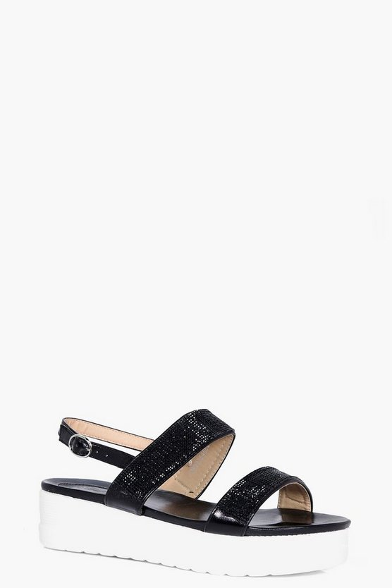 Esme Embellished Cleated Flatform