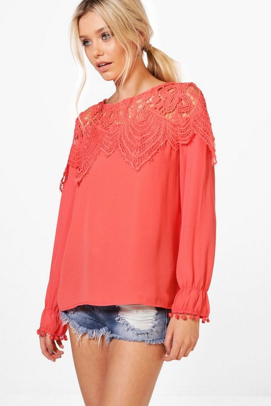 Lucy Lace Panel Blouse