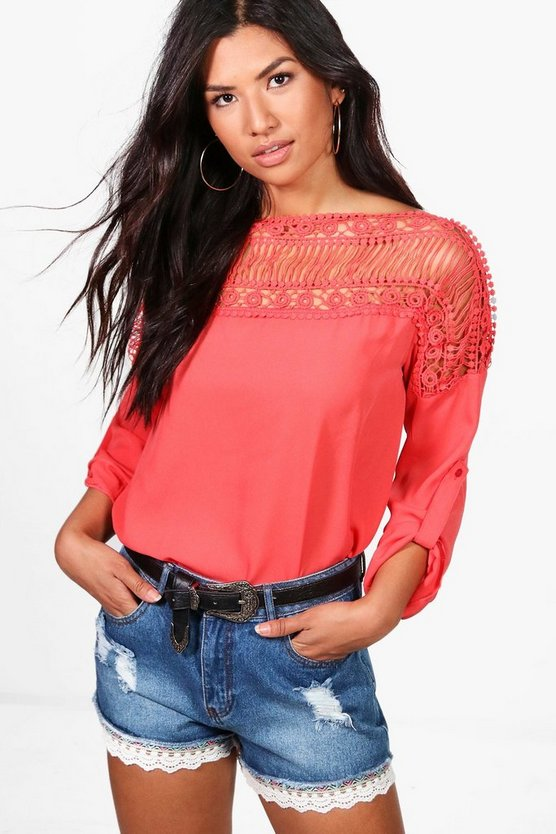 Layla Lace Panel Top
