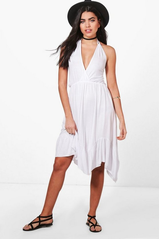 Halterneck Ruffle HStrappy Mini Dress