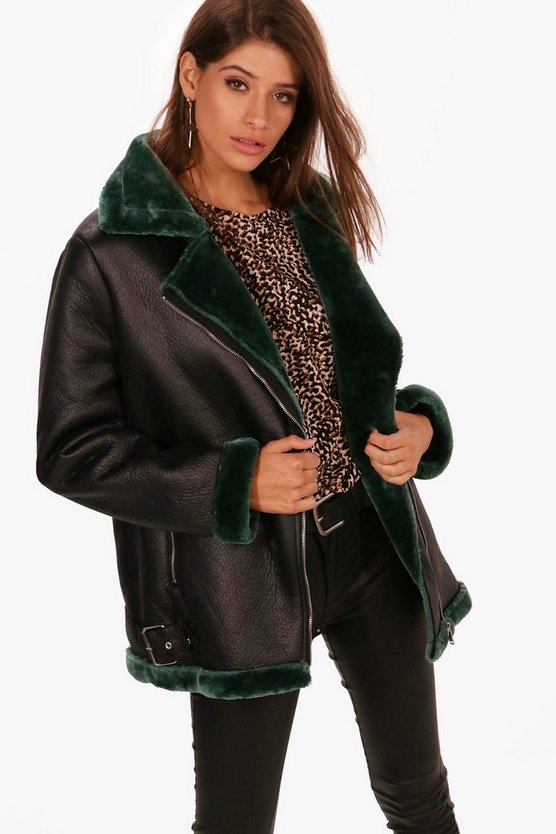 Annabelle Boutique Faux Fur Lined Aviator