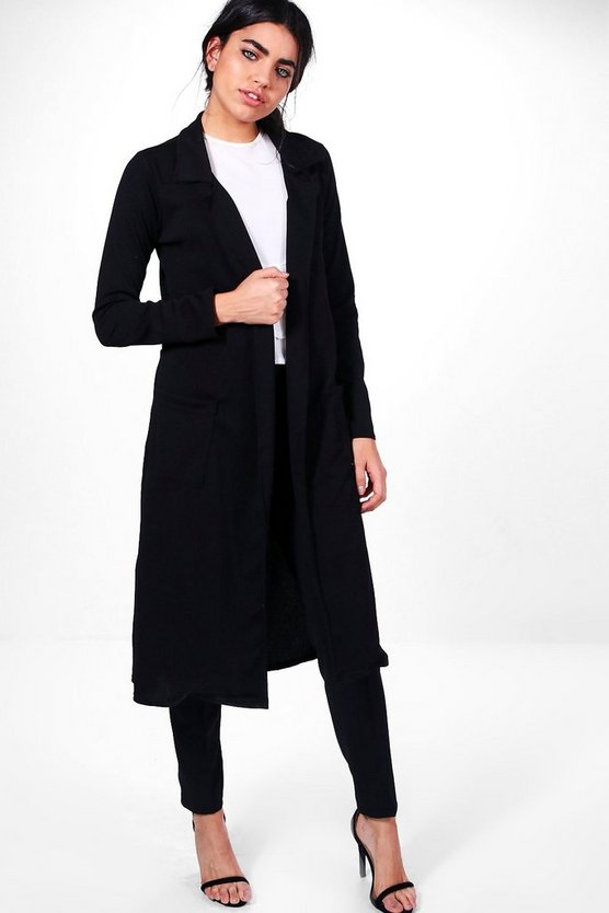 Bella Belted Pocket Longline Duster
