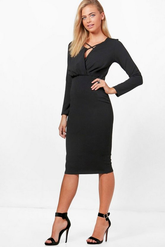 Karina Gathered Waist Tailored Dress