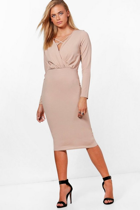 Gathered Waist Tailored Dress