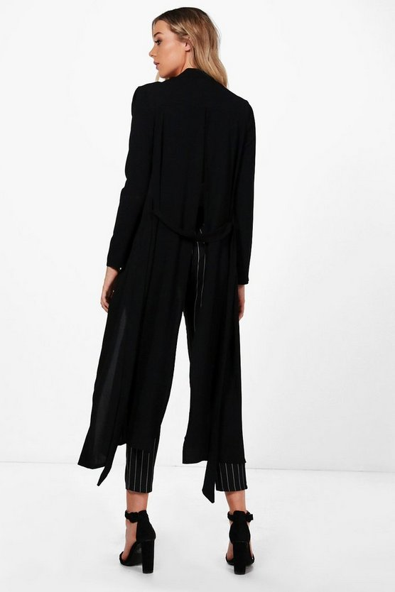 Sarah Split Back Tailored Duster