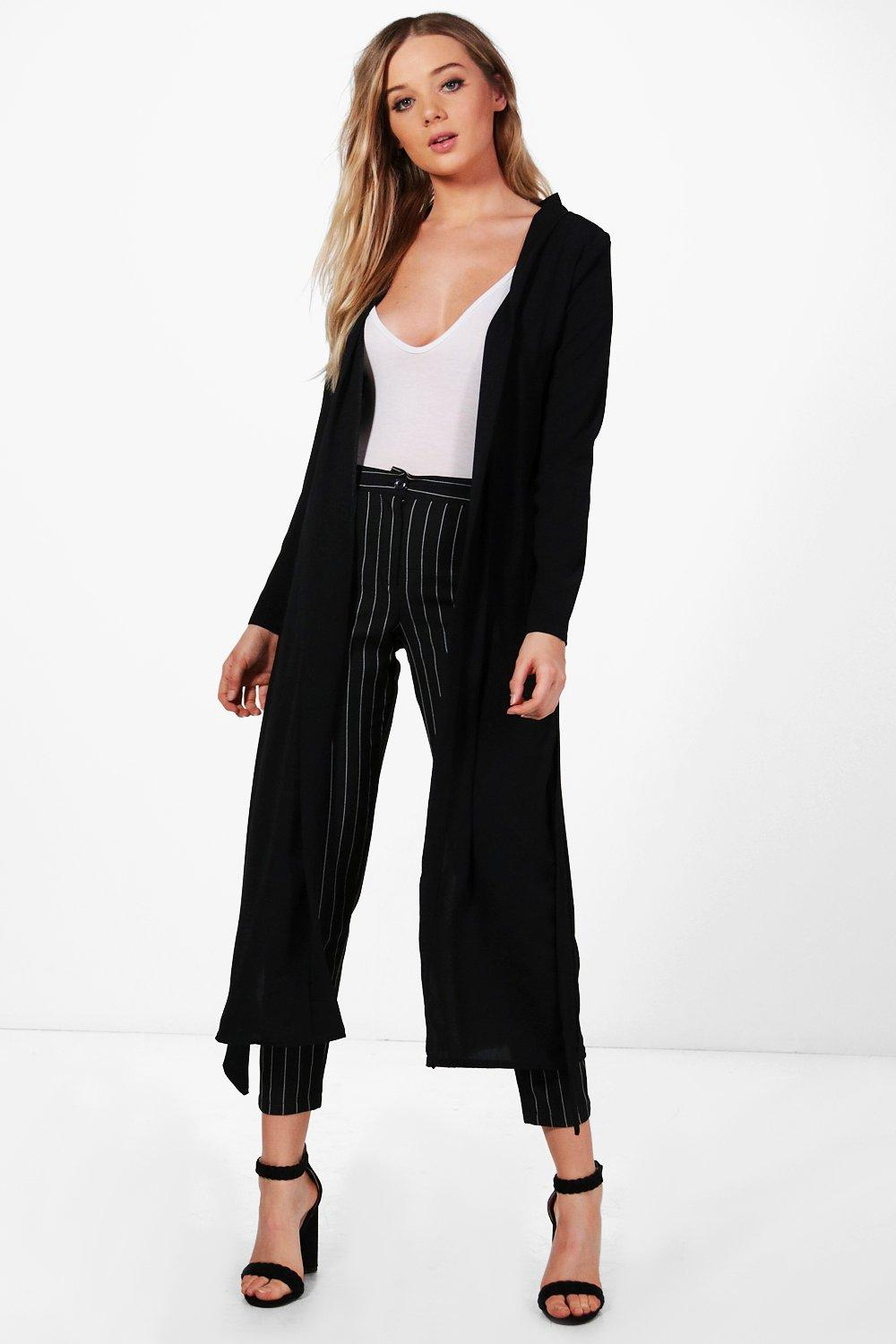 NEW-Boohoo-Womens-Sarah-Split-Back-Tailored-Duster-in